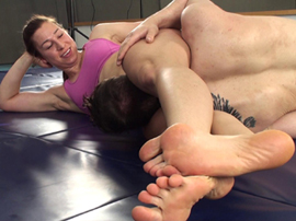 Male Vs Female Wrestling Artemis Scissorhold